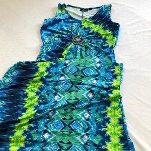 Nina Leonard maxi dress size Large